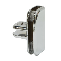 3 Way Chrome Clip Connector For Glass Shelves
