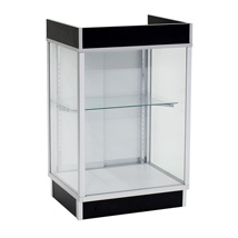 Metal Frame Black Register Stand With Showcase