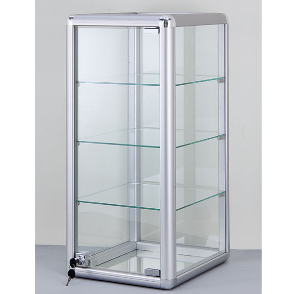 Aluminum Framed Glass Square Counter Showcase