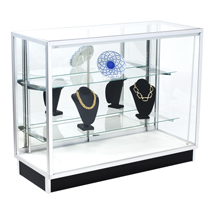 48 inch Extra Vision Metal Framed Showcase with Mirror DOORs