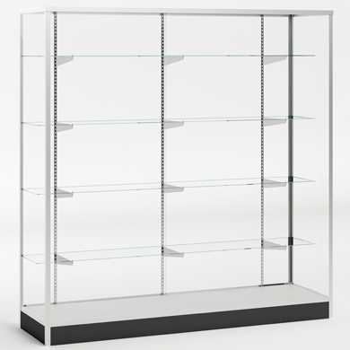 48 x 72 in. Glass Display Case - Wall Showcase with Wood Back