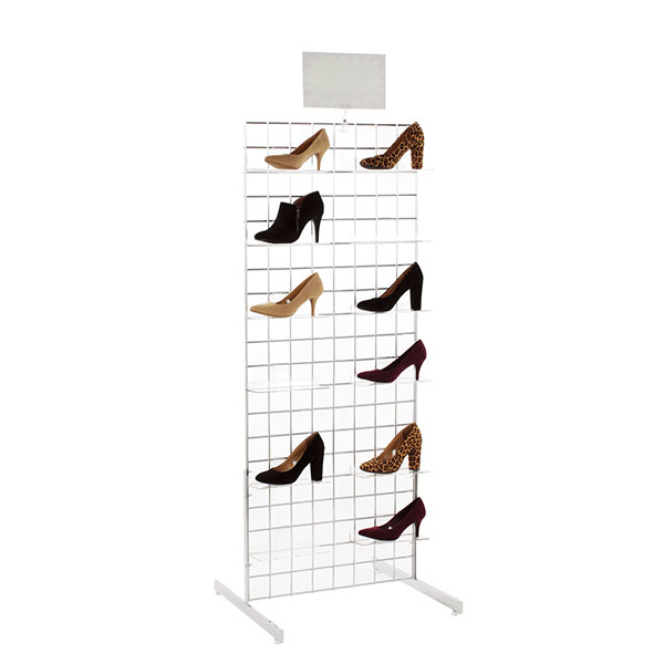 2 Ft. X 5 Ft. Grid Shoe Display