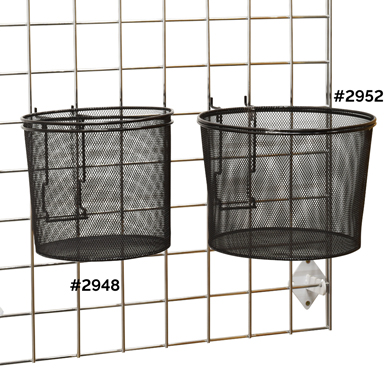Wire Mesh Display Baskets For Grid