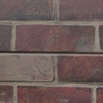 Red Brick Slatwall Panel - 2' H x 8' W