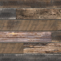Mixed Reclaimed Wood Slatwall Panel - 2' H x 8' W