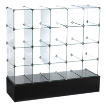 10 In. Glass Cube Display With Open Back