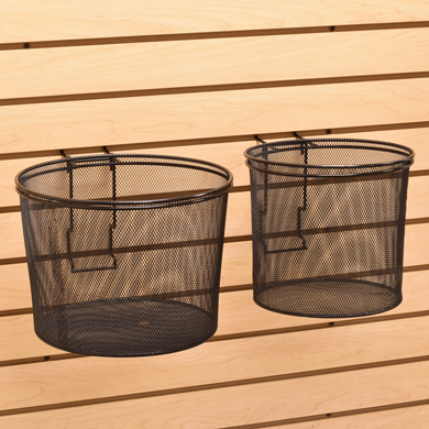 Wire Mesh Baskets For Slatwall