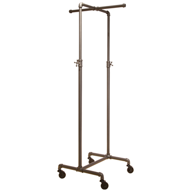 2-Way Height Adjustable Pipe Display Rack With Cross Bar