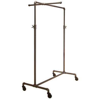 Ballet Pipe Display Clothing Rack With One Cross Bar