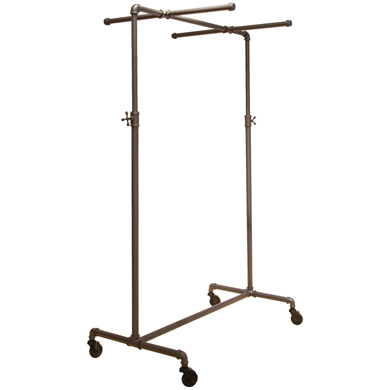 Ballet Pipe Display Clothing Rack with two cross bars