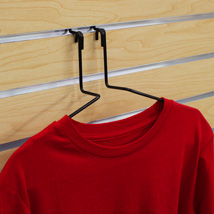 Wire Hanger Shirt Display for Slatwall
