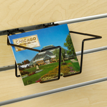 Adjustable Postcard Display for Slatwall - Black