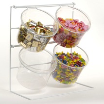 4 Jar Countertop Display With Clear Containers