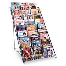 10 Shelf Magazine & Book Display