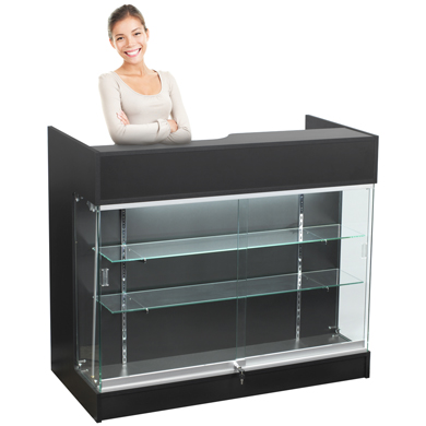 4 Foot Counter With Showcase
