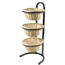 3-Tier Wicker Basket Display