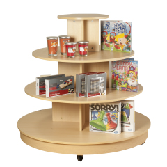 4 Tier Round Table With Casters