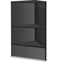 Corner Case With Wood Shelves
