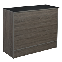 Dark Rustic Wood 48 Inch Service Counter