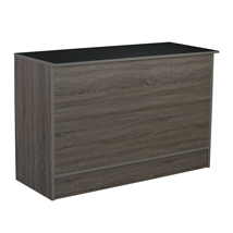 Dark Rustic Wood 70 Inch Service Counter