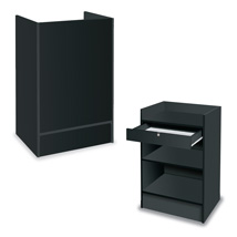 Register Stand With Locking Drawer