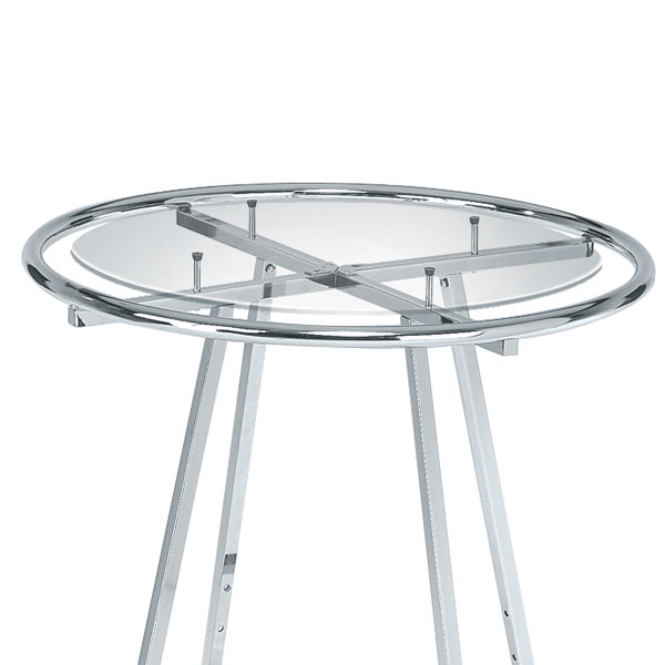 30 In. Tempered Glass For Round Apparel Rack