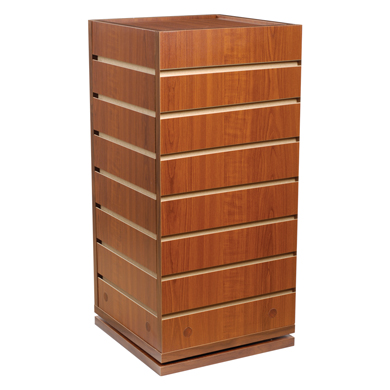 Cherry 4 Sided Cube Slatwall