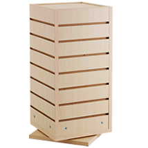 Maple 4 Sided Cube Slatwall
