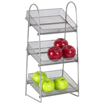 Three Tier Mesh Basket Countertop Display