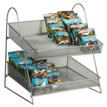 Two Tier Countertop Mesh Basket Display