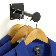 Black 3 in. Faceout Wall Mounted Hook for Fitting Rooms