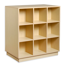 9 Cubby Display & Storage Unit - Single Sided