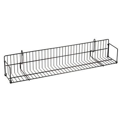 Grid Shelf 6 in. Wide x 24 in. Long - Black