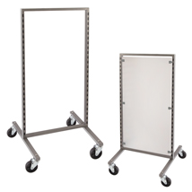 Di Simo Double Sided Display Frame with Casters
