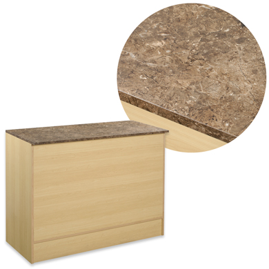 "Maple 48"" Service Counter With Faux Marble Top"