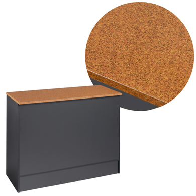 "Black 70"" Service Counter With Faux Granite Top"