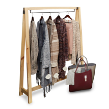Natural Wood Clothing Rack With Hangbar - Urban Collection