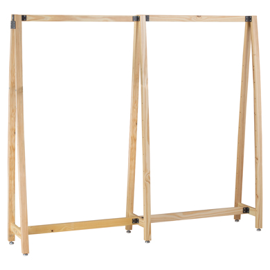 Urban Collection Pine Wood A-Frame Display With Add-On Rack