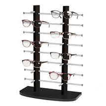 Black Wooden Countertop Eyewear Display - Holds 16 Pairs