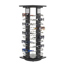 Black Wooden Countertop Eyewear Spinner Display - Holds 40 Pairs