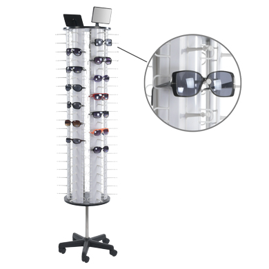 Eyewear Floor Display Spinner With Casters - Holds 120 Pair