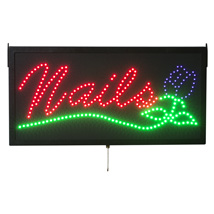 Animated Nails Led Sign For Salons