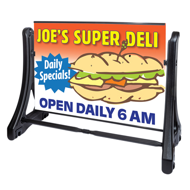 Portable Roadside Graphics Sign