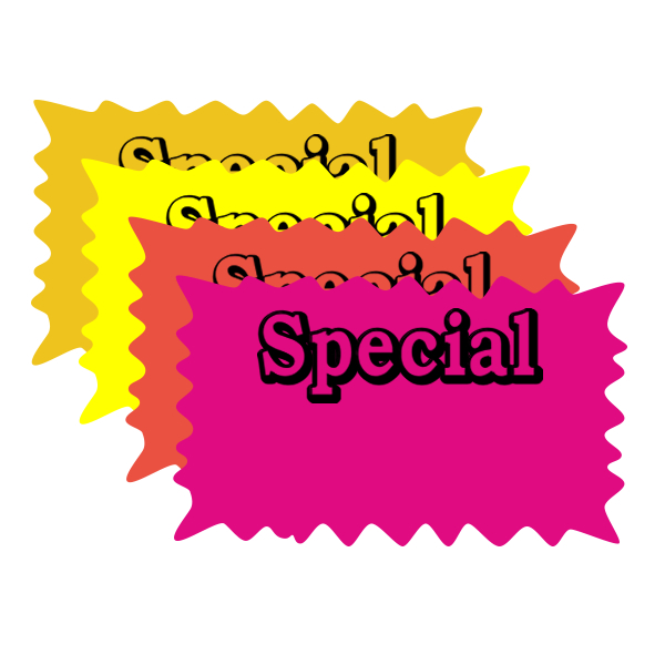 Rectangle Special Burst Price Card