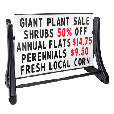3 ft. x 4 ft. Portable Roadside Letterboard Sign
