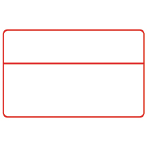 Reusable Write on Wipe Off Blank with Header Sign, 11W x 7H image