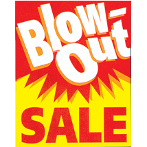 Blow Out Sale Poster