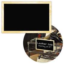 Rectangular Chalkboard Sign Cards