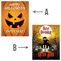 Happy Halloween Enter Here Poster - 22 x 28 inch