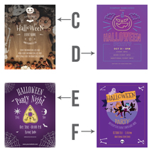 Personalized Halloween Party Event Poster - 22 X 28 Inch